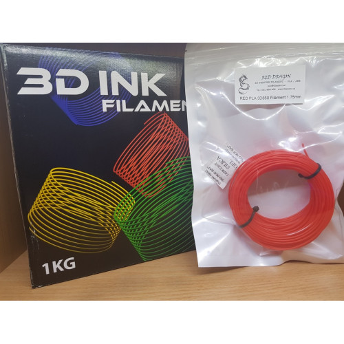 PLA3D850 Red Sample 1.75mm