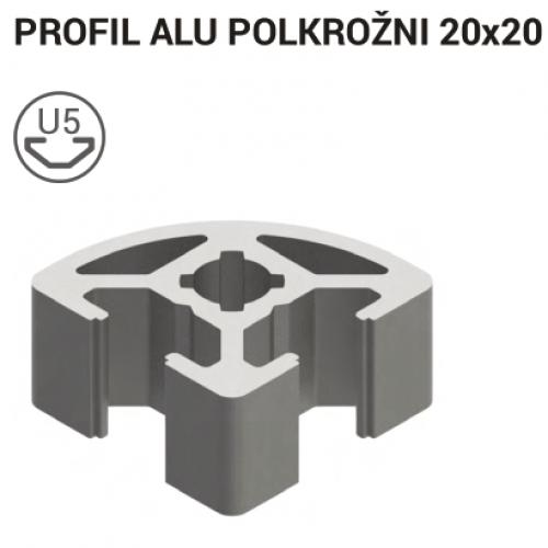 Aluminum T-slot Profile 20x20 R 5